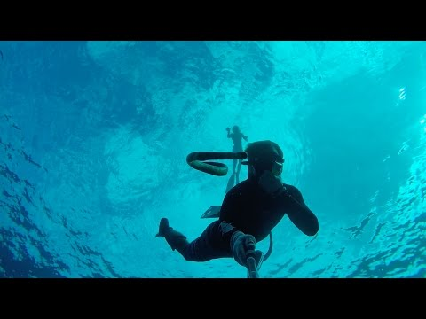 Spearfishing and free diving Niue Island 2016.