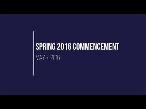 Spring 2016 Commencement Exercises