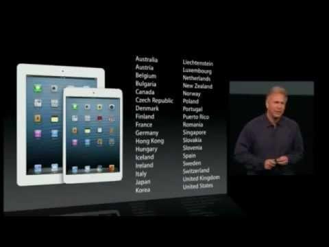 Apple iPad 4 and Apple iPad mini Keynote - Apple Special Event October 2012 Full