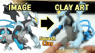 Pokémon Clay art - Black Kyurem legendary Pokémon