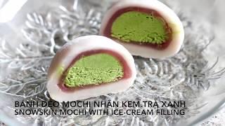 Cách làm MOCHI KEM với bột bánh dẻo - Snowskin MOCHI ICECREAM recipe_720p