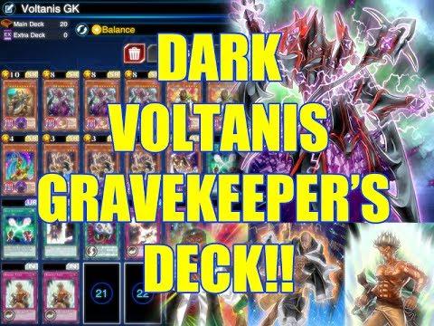 Yu-Gi-Oh Duel Links Dark Voltanis Gravekeeper's Deck