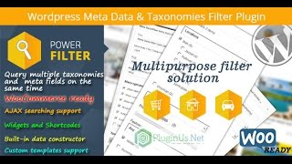 MDTF - WordPress Meta Data and Taxonomies Filter - easy entry -  WordPress filtering