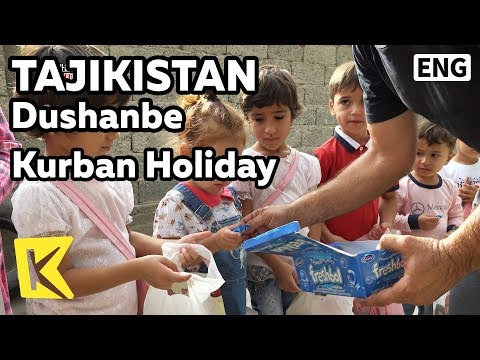 【K】Tajikistan Travel-Dushanbe[타지키스탄 여행-두샨베]쿠르반 명절 사탕 나눔/Kurban bayrami/Eid al Adha/Holiday/Candy