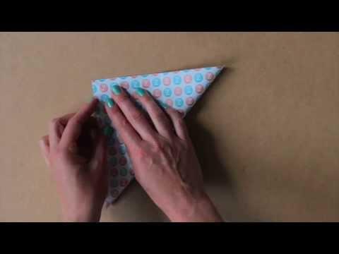 Origami kraanvogel vouwen