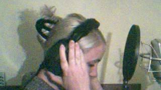 Claire Richards recording her new album