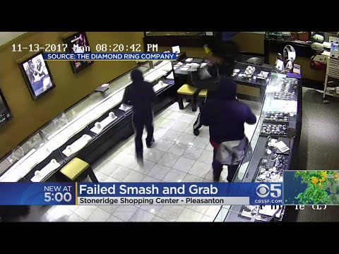 Would-Be Smash-And-Grab Jewelry Thieves Leave Pleasanton Shop Empty Handed