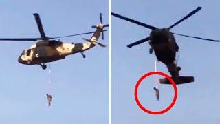 Keine Hinrichtung: Taliban hängen Mann an Black-Hawk-Helikopter – was es mit dem Video auf sich hat