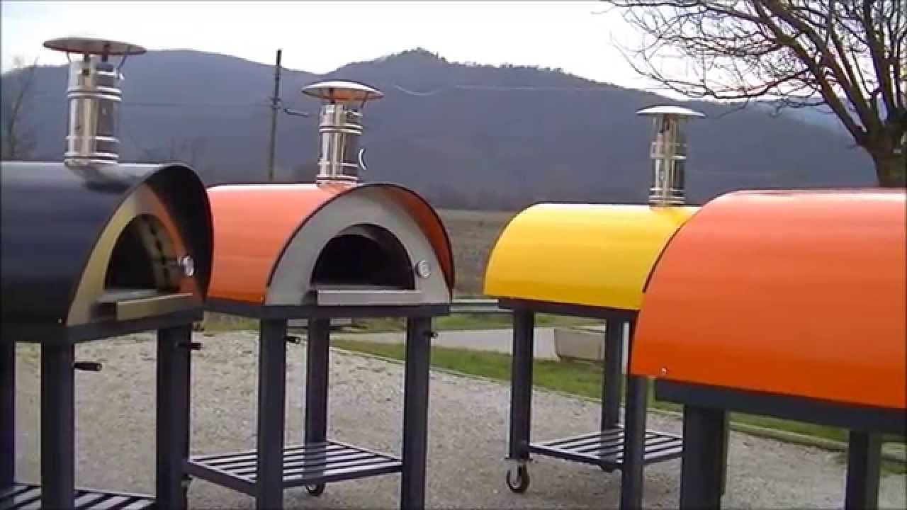 Forno a legna in acciaio per pizza pane carne dolci youtube - Forni per pizza a legna per casa ...
