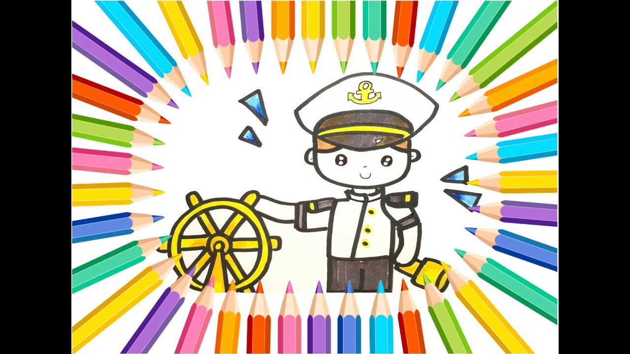 Sailorman Drawing And Coloring Tutorial For Kids