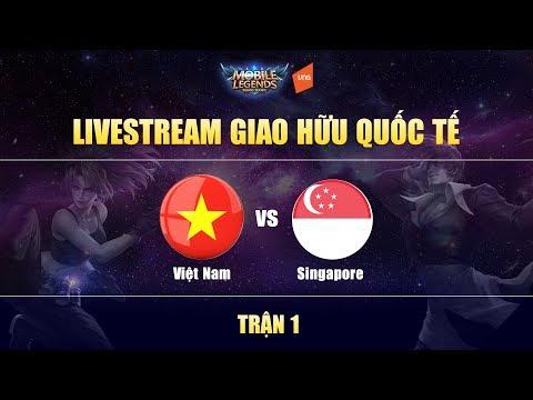 Việt Nam Vs Singapore Trận 1 - Giao Hữu Quốc Tế | Mobile Legends Bang Bang Việt Nam thumbnail