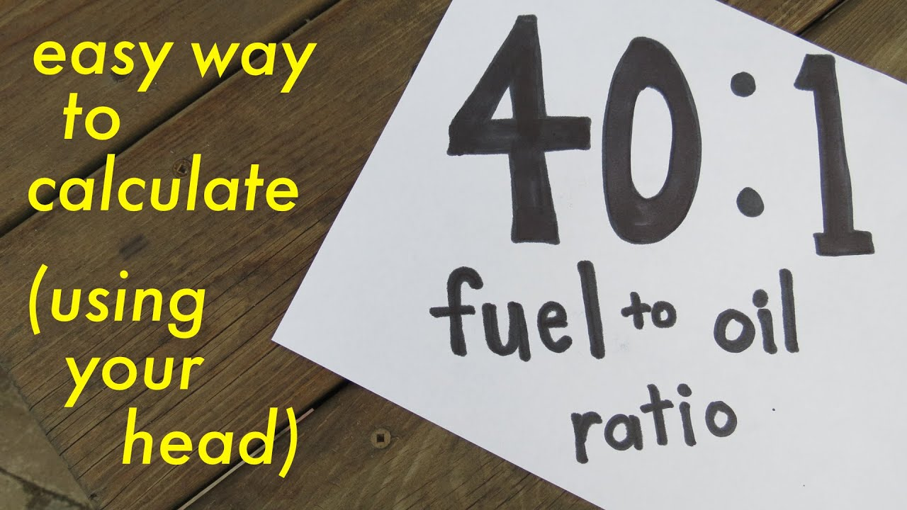 also fuel to oil ratio easy way calculate youtube rh