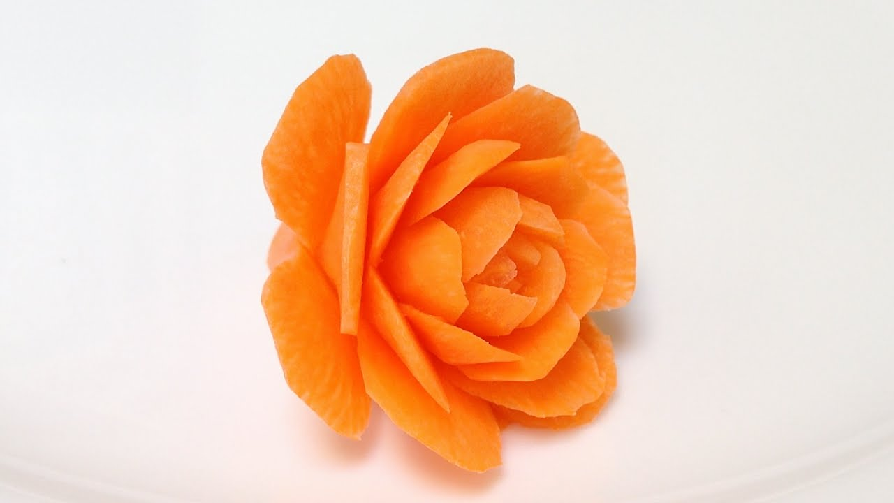 Carrot small cactus rose flowers advanced lesson by