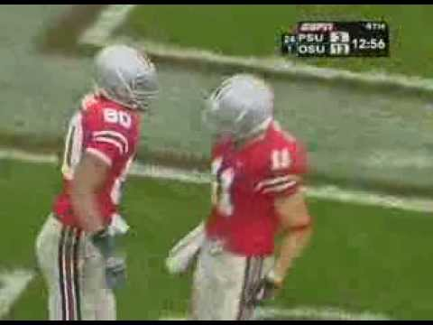 2006 Big Ten Football Greatest Moments-Former Heisman Winner Troy Smith 37 Yard Touchdown Pass