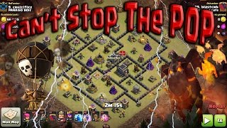 Queen POP LaLoon. Air vs Spread Bases. TH9 Best 3 Star attack. Clash of Clans