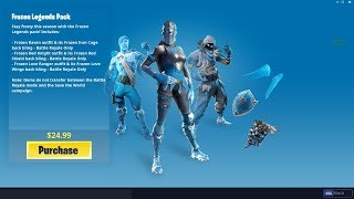 "Buying ""FROZEN LEGENDS PACK"" in Fortnite"