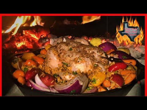 Chorizo Stuffed Roasted Chicken | Fire Roasted Chicken Recipe