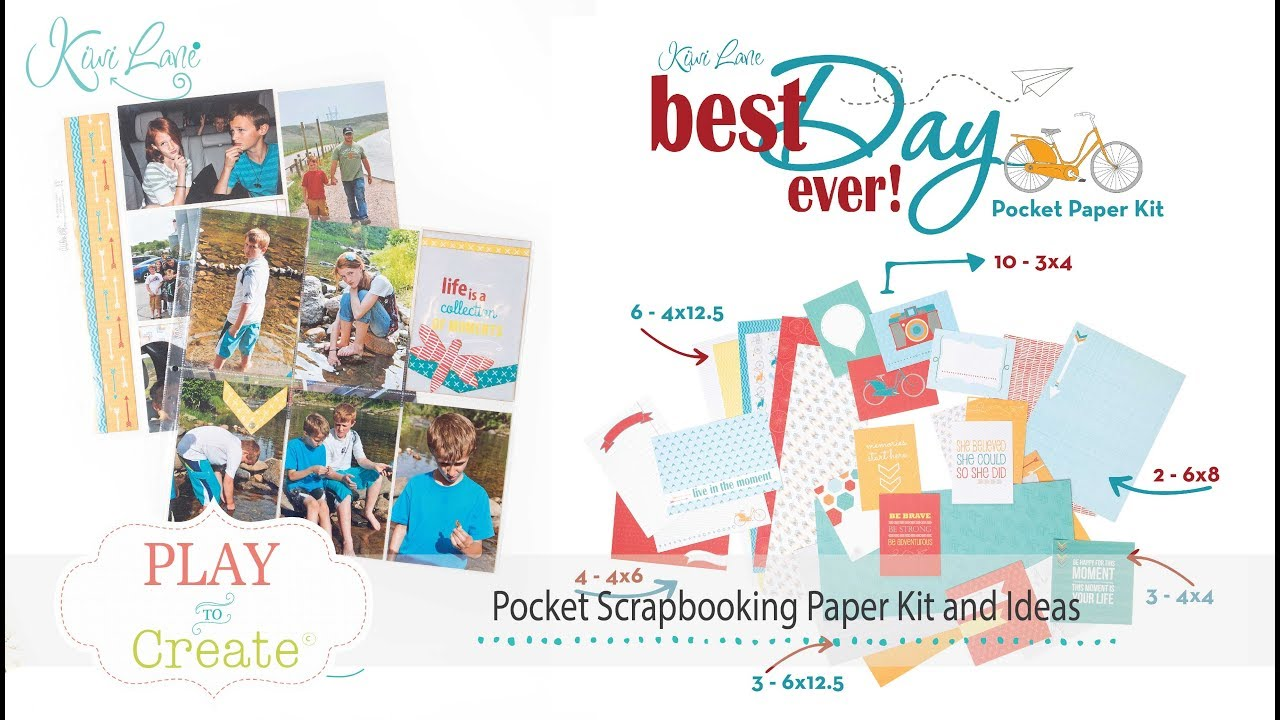 Pocket Scrapbooking Paper And Ideas Youtube