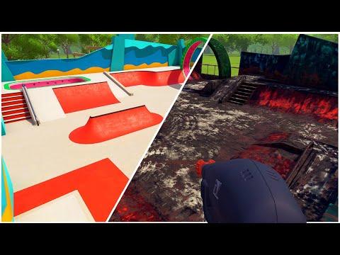 Cleaning Decades of Filth Off This Public Skatepark - PowerWash Simulator
