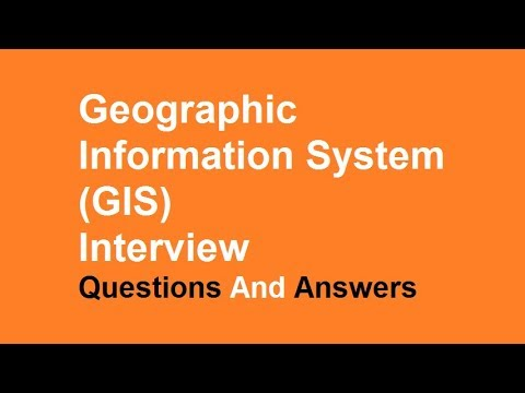 Geographic Information System (GIS) interview Questions And Answers