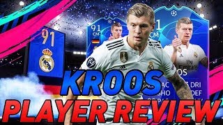 FIFA19! KROOS 91 UCL TEAM OF THE GROUP STAGE COMPLETING SBC + PLAYER REVIEW!