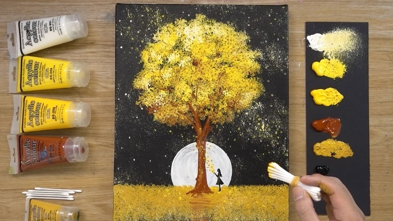 Download Black Canvas - Aluminum Painting Technique - How to paint acrylics