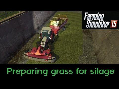 Farming Simulator 2015 PS4 | Preparing grass for silage
