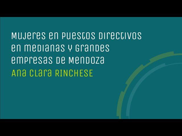 Mujeres en puestos directivos en medianas y grandes empresas de Mendoza