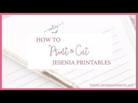 Jesenia Printables Tutorial \\ How to print and cut inserts