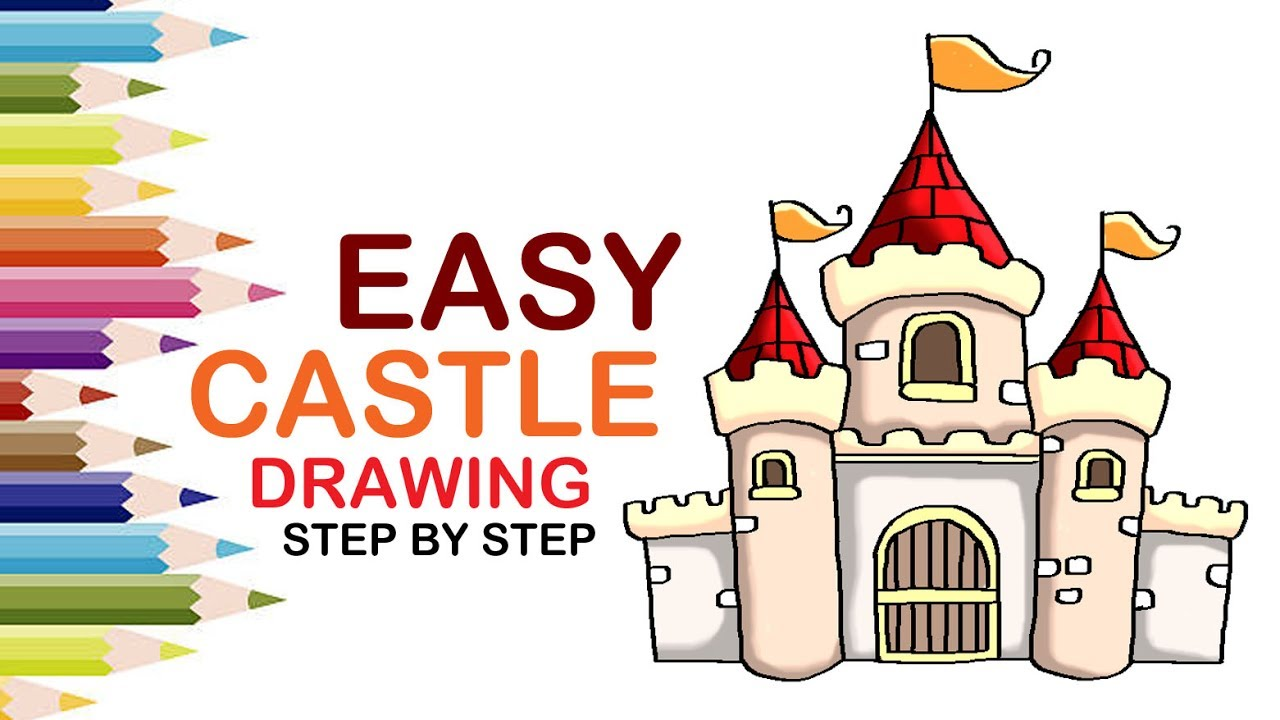 Uncategorized How To Draw A Castle Step By Step how to draw a castle for kids step by youtube step