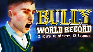 BULLY SPEEDRUN! - WORLD RECORD (Real Time: 2h 37m 39s/In-Game Time: 2h 40m 12s)