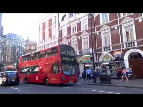 The UK Today - Walking Along Shaftsbury Avenue,West End Theatreland ,London. August 2016