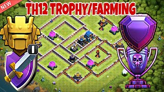 BEST TH12 TROPHY/FARMING BASE 2018 with REPLAYS / BEST TH12 BASE WITH 3 INFERNOS - Clash of Clans