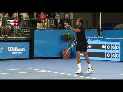 Yannick Noah's Hyped Up Ready Position! - World Tennis Challenge 2014