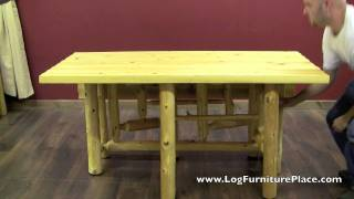 Gate Leg Log Table From Logfurnitureplace.com
