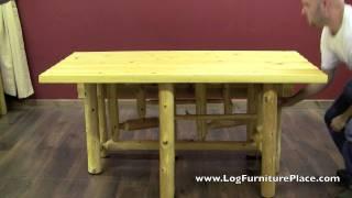 Gate Leg Log Table From Logfurnitureplace.com