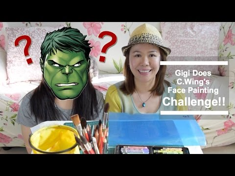 Gigi幫C.Wing 畫面挑戰~ Gigi Does C.Wing's Face Painting Challenge!