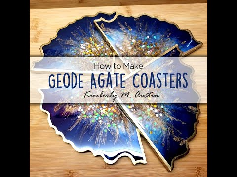 How to Make Geode Agate Resin Coasters