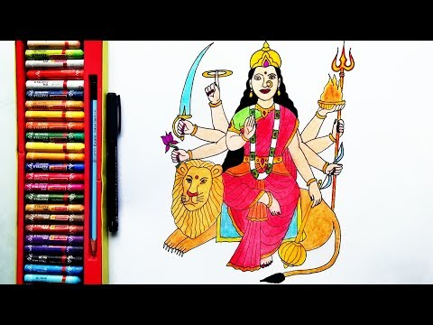 How to draw Durga Mata Easily | Durga Devi Drawing | by Drawing Art