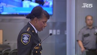 Seattle Police Chief Carmen Best speaks after confirmation