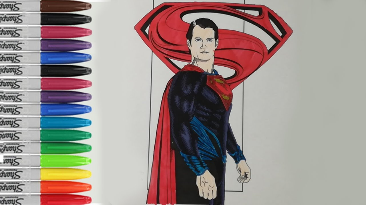 Man of Steel Coloring Pages Superman 2013 Man of Steel Fun Pages ...