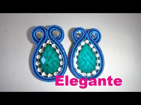 Zarcillos Soutache modelo elegante en español