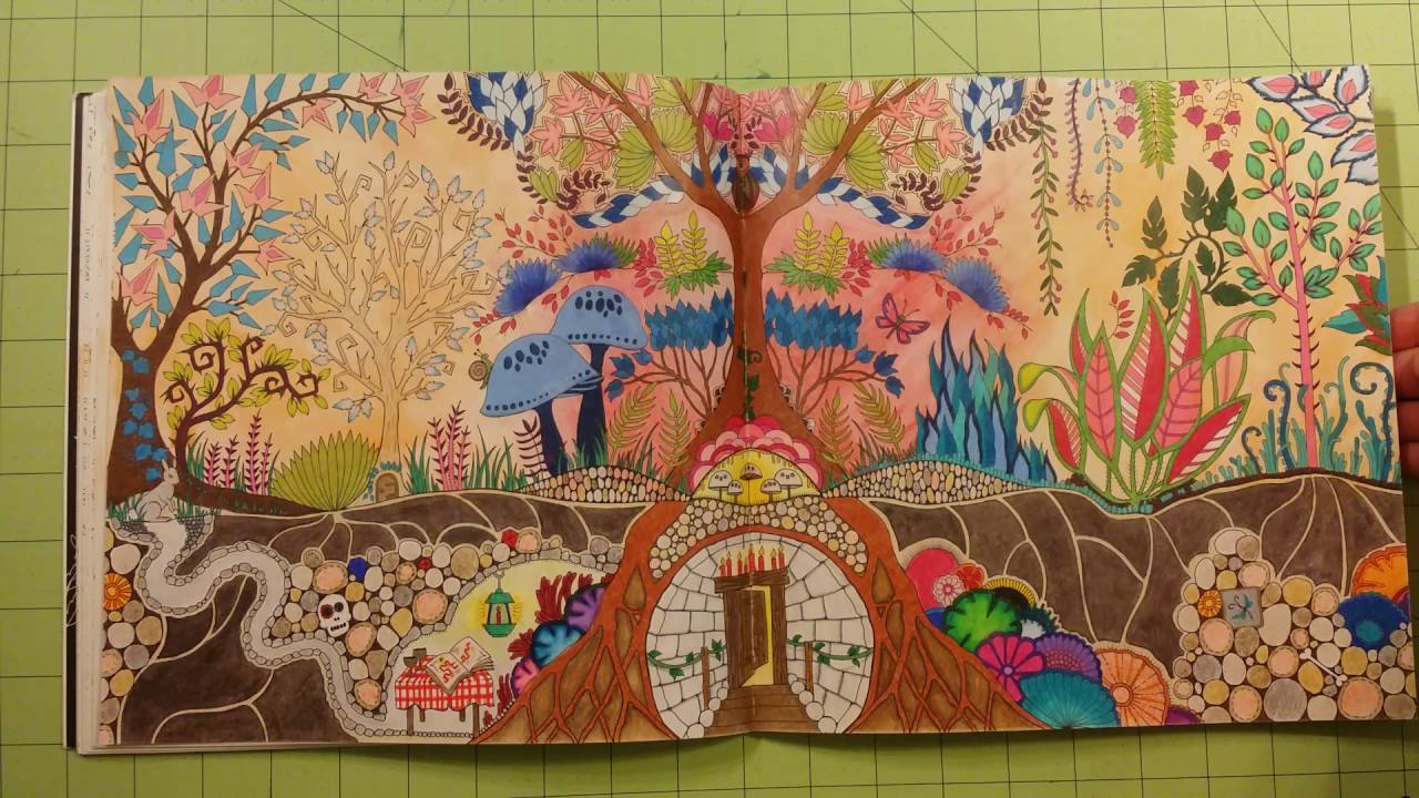- The Enchanted Forest By Johanna Basford Adult Coloring Book Review