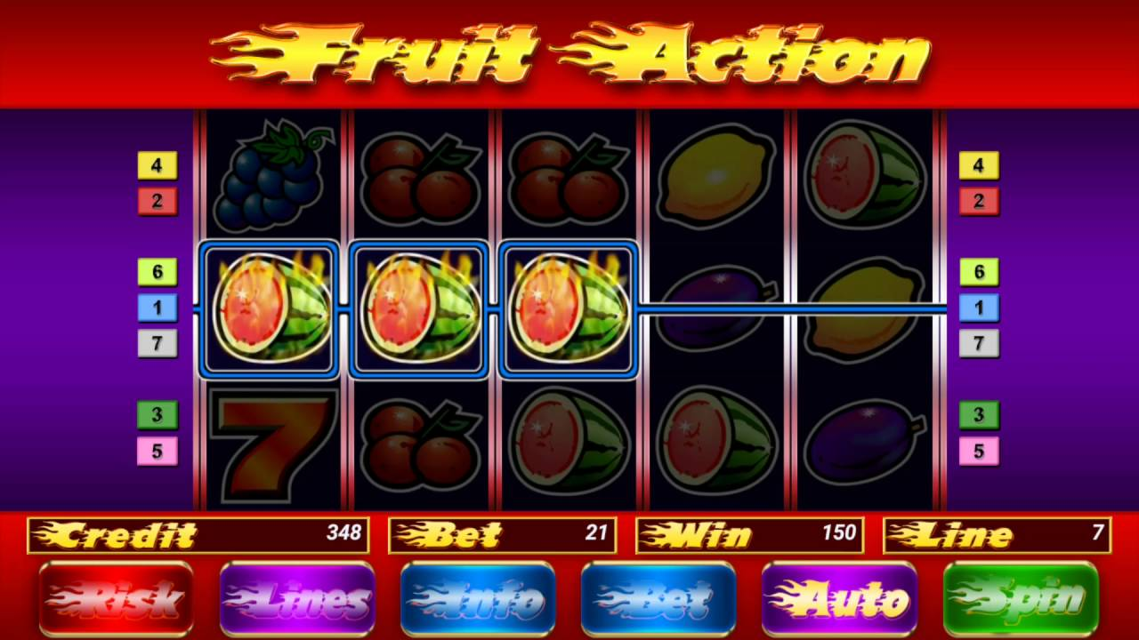 Fruit action slot online