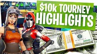 $10,000 Fortnite Tournament Win w/ DaFPS - Tournament Highlights vs FaZe, TSM & more