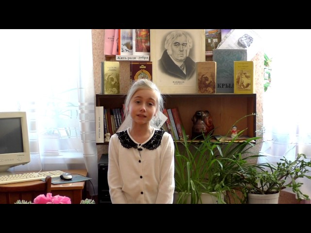Изображение предпросмотра прочтения – ЮлианаПисклова читает произведение «Ворона и Лисица» И.А.Крылова