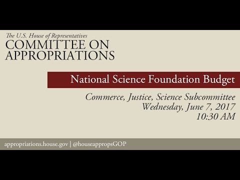 Hearing: National Science Foundation Budget (EventID=105998)