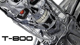 Speed drawing Terminator T-800.