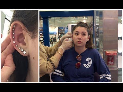 PIERCING MY WHOLE EAR!!   BeautyBySamixox
