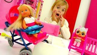 Барби и Штеффи. ГОНКИ на колясках! Идеи для кукол - Мультики для девочек